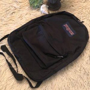 Jansport Backpack-Black-EUC-16x12x5.5wide